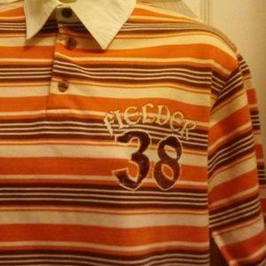 PUSH Shirts - Orange/brown long sleeve shirt
